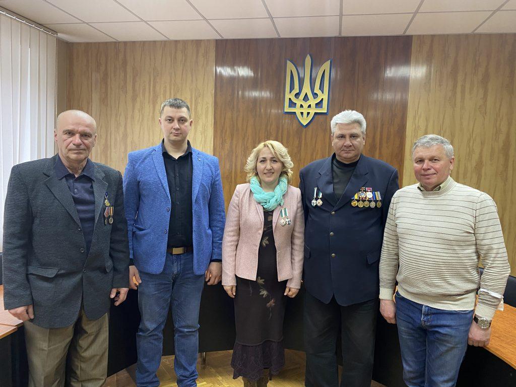 Зустріч з ліквідаторами аварії на ЧАЕС та головою громадської організації чорнобильців